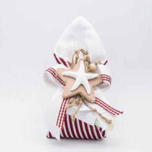 openonlus bomboniere solidali sacchetto bianco righe rosse