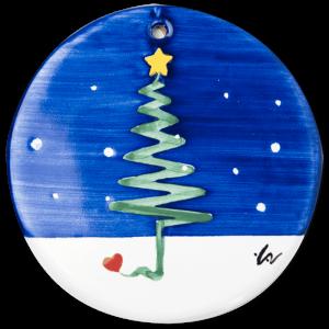 Formella albero di Natale